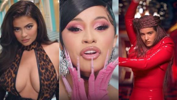 """Rosalía y Kylie Jenner se reúnen en """"WAP"""", el nuevo videoclip de Cardi B. (Foto: captura de YouTube)"""