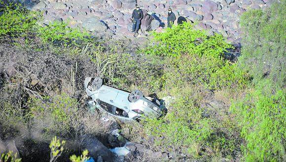Ayacucho: hasta el lugar del siniestro llegó el representante del Ministerio para autorizar el levantamiento del cadáver, mientras que la Policía inició las pesquisas para determinar las causas del accidente | Foto: PNP