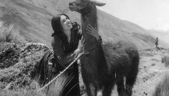 """Judith Figueroa durante la filmación de """"Kukuli"""". La actriz falleció a los 99 años el 23 de noviembre del 2019 en Vancouver, Canadá. Foto: Archivo de El Comercio."""
