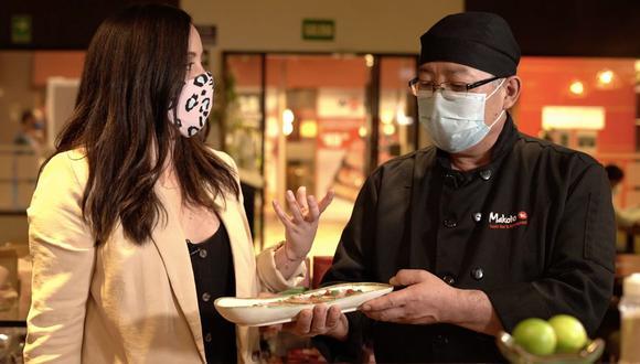 """En la primera entrega de """"En la cocina"""", Nora Sugobono visita Makoto Sushi Bar y conversa con el itamae Jorge Tako Higa. (Foto: Difusión)"""