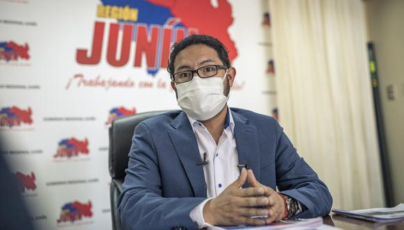 Fernando Orihuela está en el cargo de gobernador regional desde agosto del 2019. Llegó en reemplazo de Vladimir Cerrón, quien fue separado debido a la condena que recibió por delitos de corrupción. (Foto: Anthony Niño de Guzmán)