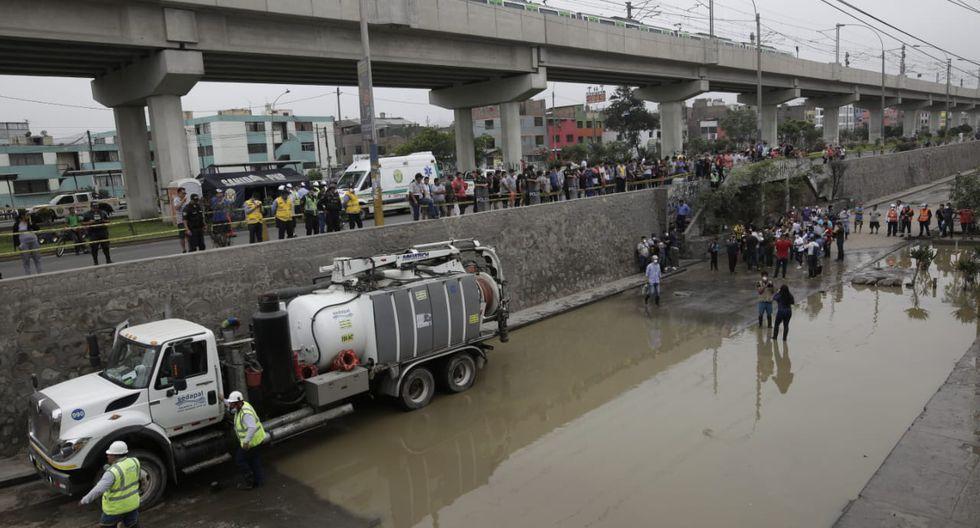 La avenida Próceres de SJL estará cerrada mientras se realicen las obras de reparación de la tubería. (Foto: Anthony Niño de Guzmán / El Comercio)