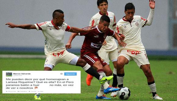 El polémico tuit de futbolista peruano sobre Larissa Riquelme