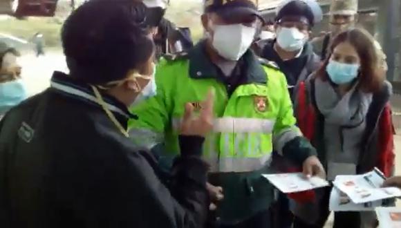 El primer caso de cédulas marcadas con anticipación fue reportado en Carabayllo.  (Foto: captura de video)