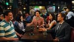 """In this image released by CBS, cast members, from left, Jason Segel, Alyson Hannigan, Josh Radnor, Cobie Smulders and Neil Patrick Harris are shown in a scene from """"How I Met Your Mother."""" (AP Photo/CBS, Ron P. Jaffe) ** MANDATORY CREDIT; NO ARCHIVE; NO SALES; NORTH AMERICA USE ONLY **"""