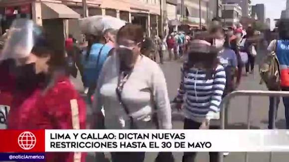 Government dictates new restrictions until May 30 for Lima and Callao