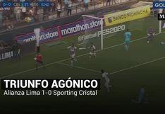 Alianza Lima venció a Sporting Cristal en la semifinal de ida de la Liga 1