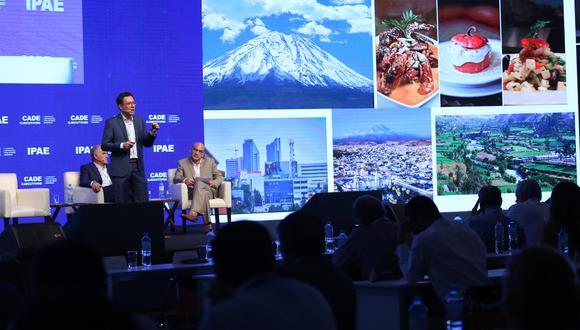 Aldo Aranzaens, presidente de la Cámara de Comercio de Arequipa en CADE Ejecutivos 2018.