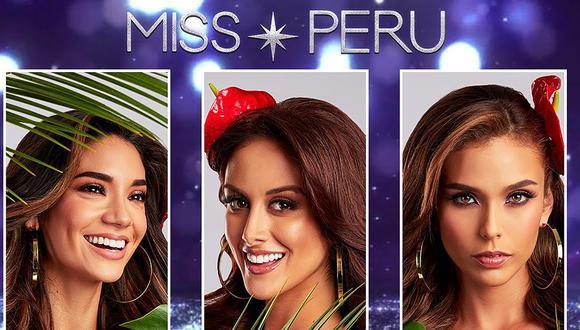 Miss Perú La Libertad (Solange Hermoza), Miss Perú USA (Janick Maceta) y Miss Perú San Martín (Maricielo Gamarra) son las finalistas del Miss Perú 2020. (Foto: Miss Perú/Instagram)