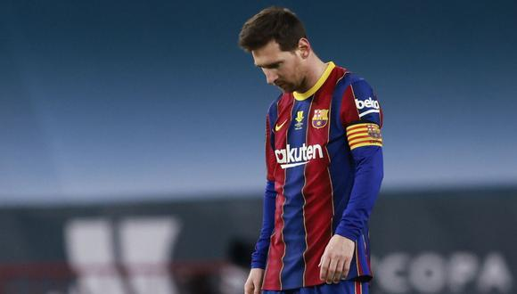Lionel Messi fue expulsado en el partido en el que Barcelona perdió 3-2 ante Athletic Bilbao por la Supercopa de España  (Foto: Reuters)