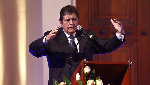 El ex presidente Alan García es el director del Instituto de Gobierno y Gestión Pública de la USMP. (Foto: Archivo El Comercio)