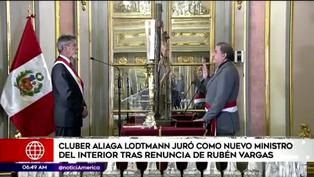 Cluber Fernando Aliaga Lodtman juró como el nuevo ministro del Interior