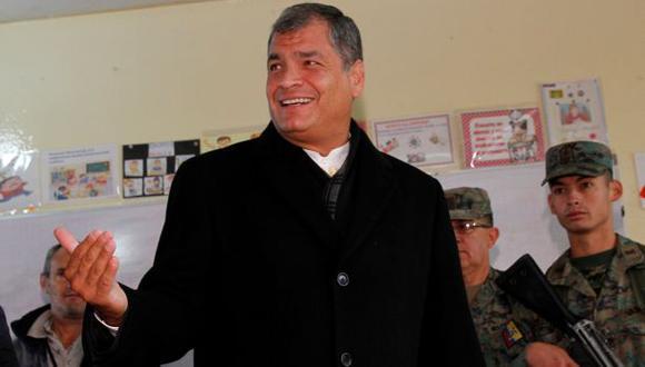 """Correa rechaza que se hable de fraude """"con pruebas falsas"""""""