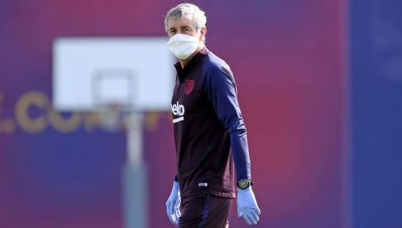 Quique Setién es entrenador del FC Barcelona desde enero del 2020. (Foto: AFP)