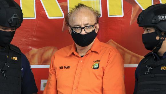 Francois Camille Abello   Pedófilo francés acusado de violar a 300 menores podría ser condenado a pena de muerte en Indonesia. Foto: AP