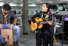 """Damaris en sesión acústica desde """"El Comercio"""" [VIDEOS]"""