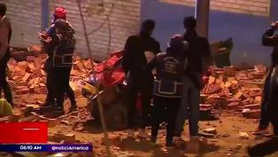 Camión cargado de ladrillos se despistó y mató a tres personas en Ventanilla