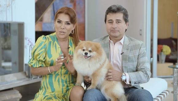 Magaly Medina y Alfredo Zambrano dieron más detalles sobre el inicio de su relación. (Foto: Captura Youtube).