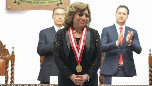 La fiscal de la Nación, Zoraida Ávalos,
