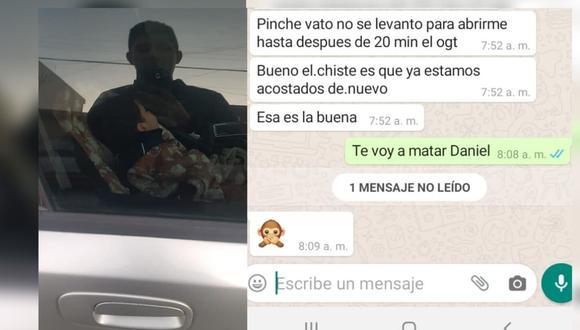 Conversación entre el hombre y la madre del niño sobre lo ocurrido (Foto: Facebook)