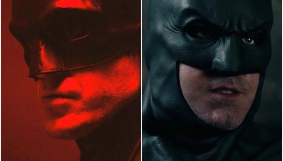 Robert Pattinson (izquierda) y Ben Affleck, una historia de dos Batman. (Foto: Warner Bros.)