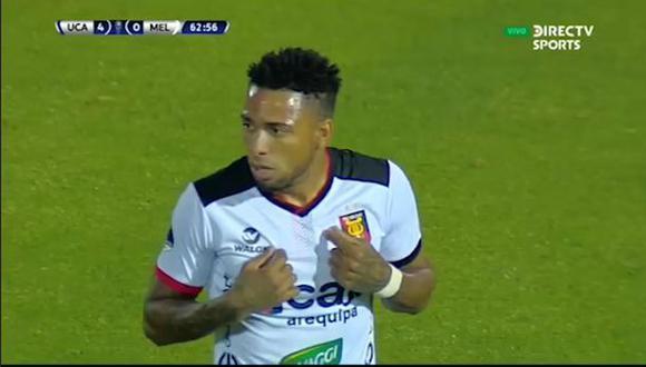 Alexi Gómez fue expulsado en goleada de Universidad Católica ante Melgar por Sudamericana | VIDEO. (Video. DirecTV Sports / Foto: Captura de pantalla)