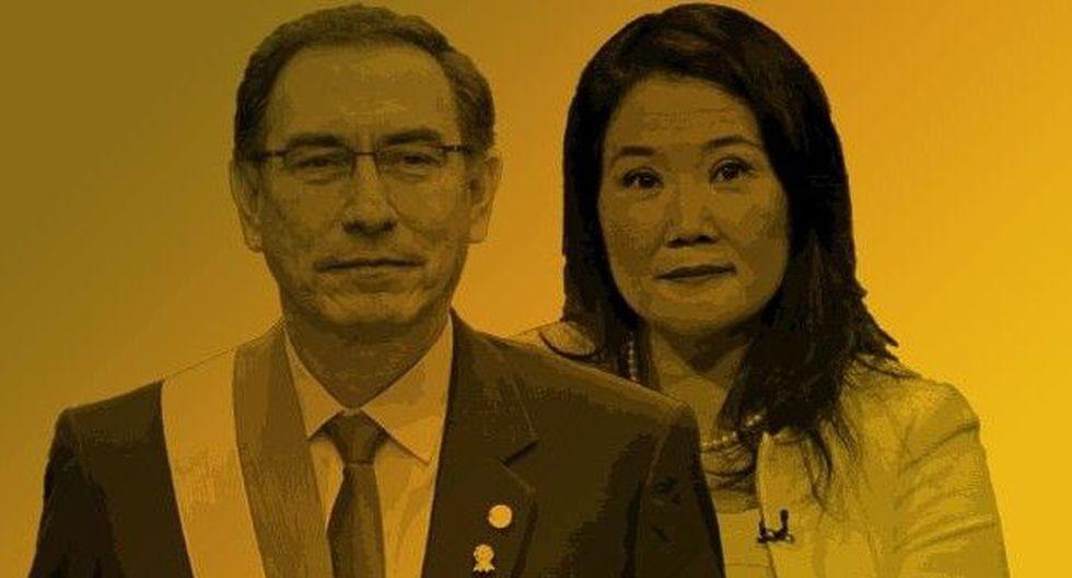Percepciones ciudadanas sobre el presidente Martín Vizcarra y Keiko Fujimori, lideresa de Fuerza Popular, el principal partido de oposición en el Congreso. (El Comercio)