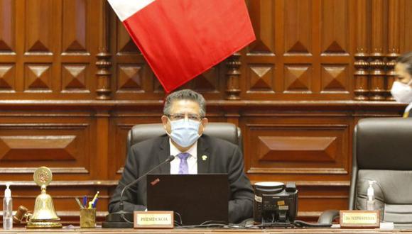 Manuel Merino, presidente del Congreso, anunció un cambio de fecha para el debate de la admisibilidad de la moción de vacancia contra Martín Vizcarra. (Foto: Congreso)