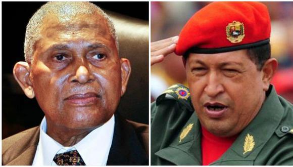 Arthur Napoleon Raymond Robinson y Hugo Chávez eran presidentes de Trinidad y Tobago y Venezuela cuando esos países abandonaron el Pacto de San José. (Foto: AFP)