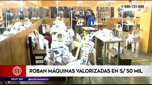 SJL: ladrones roban máquinas valorizadas en 50 mil soles en un taller de confección