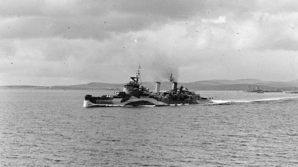 El buque HMS Belfast está hoy amarrado en aguas del río Támesis a su paso por Londres. Es un museo naval que se puede visitar.