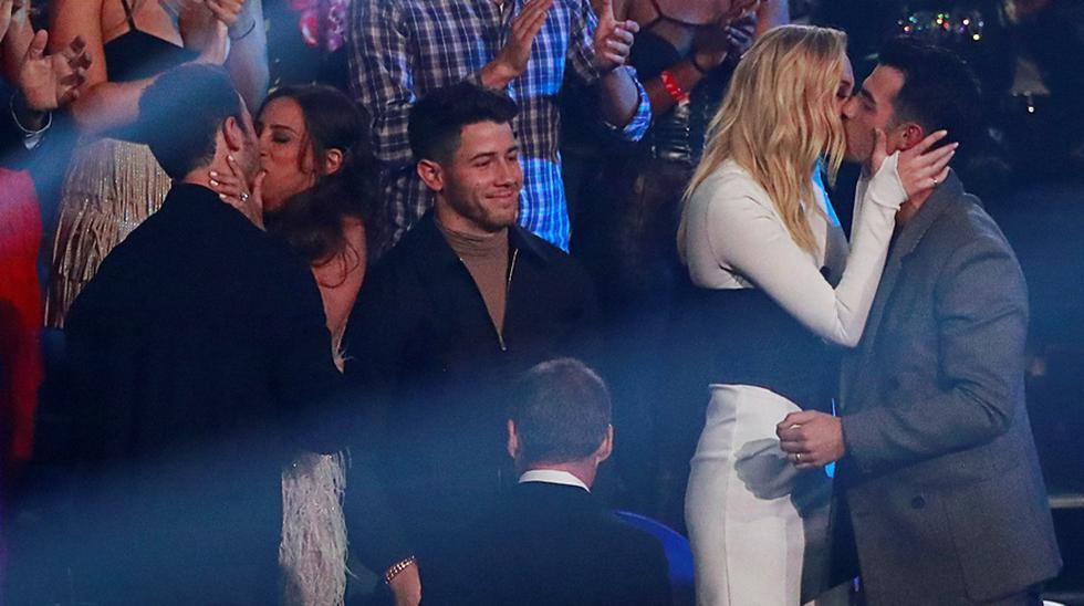 Los Jonas Brothers en los MTV Video Music Awards 2019. (Fotos: Agencias)