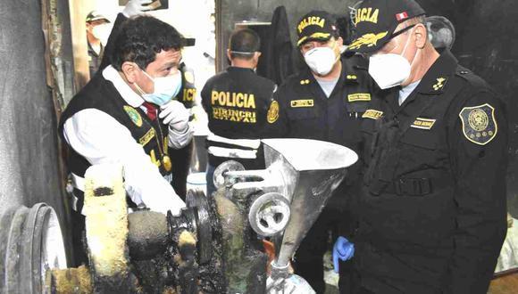 El pasado 3 de junio la policía intervino en este laboratorio clandestino de medicamentos en La Victoria (Foto: PNP)