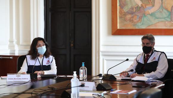 El presidente Francisco Sagasti encabezó este lunes la sesión del Conasec. (Foto: PCM)