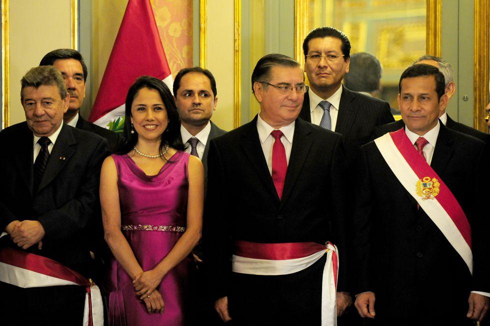 Nadine Heredia tuvo una activa participación en el gobierno de su esposo. Siempre estaba presente en la juramentación de los ministros, por ejemplo. [Foto archivo El Comercio]