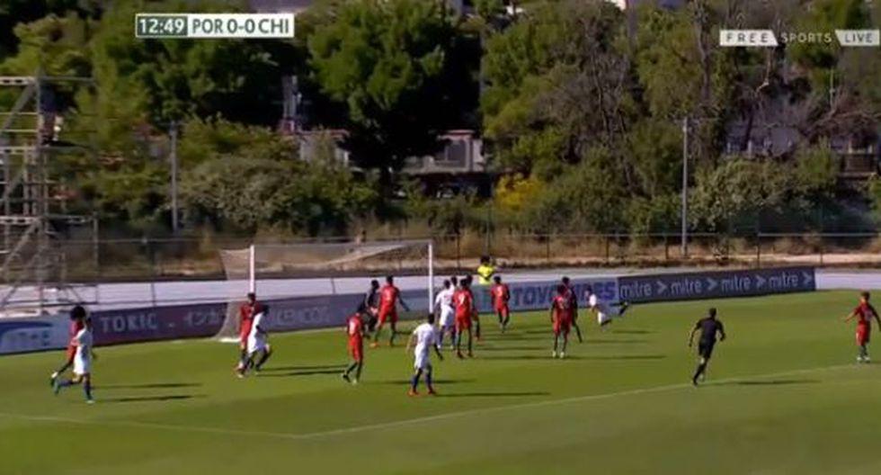 El gol de Mathias Pinto en el Chile vs. Portugal. (Foto: captura de video)