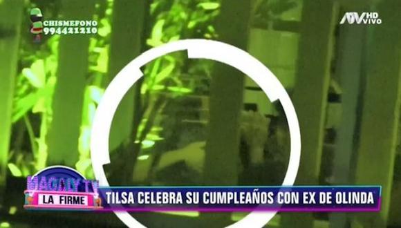 """Tilsa Lozano nuevamente captada junto al """"ex"""" de Olinda Castañeda. (Imagen: ATV)"""