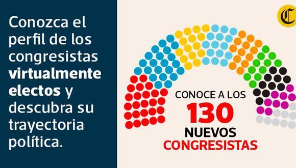 Conoce a los 130 nuevos congresistas. Este viernes 28 de febrero reciben sus credenciales.