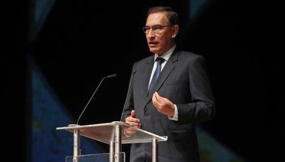 El presidente Martín Vizcarra indicó que la reunión que sostuvo con legisladores de Fuerza Popular fue de carácter general. (Foto: Presidencia)
