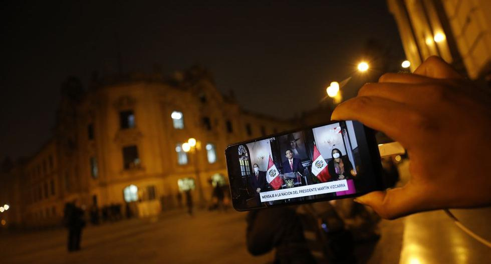 Presidente de la República, Martín Vizcarra brinda mensaje luego de la difusión de unos audios privados con su entorno laboral. FOTO: César Bueno / @photo.gec