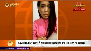 Jazmín Pinedo casi sufre accidente vehicular tras persecución de periodistas
