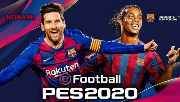 Ronaldinho y Lionel Messi estarían en la portada de PES 2020. (Captura de pantalla)