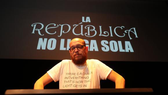 """El politólogo Alberto Vergara agrupó cuatro columnas publicadas en El Comercio en la obra """"La república no llega sola"""". (Foto: Rolly Reyna)"""