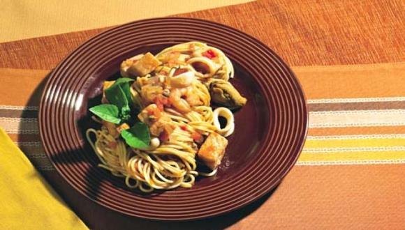Espagueti marinara