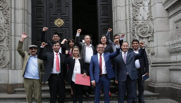 La bancada del Frente Amplio se reunió con el Poder Ejecutivo el 3 de febrero. (Foto: Anthony Niño de Guzmán / GEC)