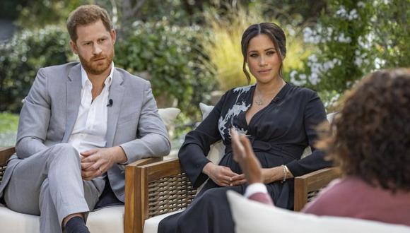 La entrevista de Oprah Winfrey con el duque y la duquesa de Sussex Meghan Markle se emitió este domingo en EE.UU. (HARPO PRODUCTIONS - JOE PUGLIESE).