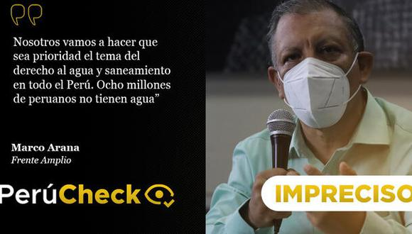 PerúCheck. La afirmación del candidato presidencial del Frente Amplio fue sometida a fact checking.