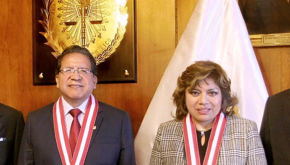 La fiscal de la Nación Zoraida Ávalos y el fiscal supremo Pablo Sánchez, fueron reelegidos como representantes del Ministerio Público ante la Academia de la Magistratura. (Foto: Difusión)