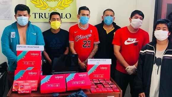 Los detenidos en Trujillo serán investigados por la presunta comisión delitos informáticos. (Foto: PNP)