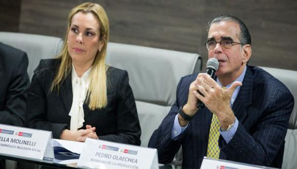 Fiorella Molinelli y Pedro Olaechea expresaron sus posiciones sobre la pena de muerte. (Foto: Midis)